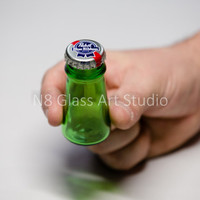 Beer Bottle Stash Jar large  Recyled / by ColumbusGlassArt on Etsy