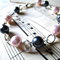 Coco Bracelet Chanel Inspired Pink and Gray by RevolutionCoOp