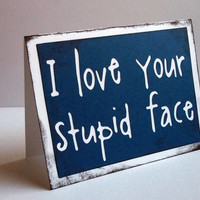 I love your stupid face  Doctor Who / Amy Pond by craftingtiger