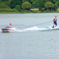 The Skier Controlled Tow Boat - Hammacher Schlemmer