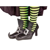 Womens Funky Witch Costume Shoe Covers