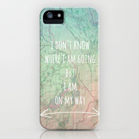 I'm On My Way iPhone Case 3,3g,4,4s,5 by Ally Coxon | Prints|skins|Bags and more Society6