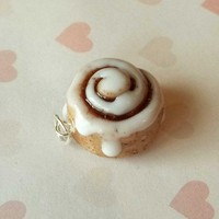 Cinnamon roll charm by ScrumptiousDoodle on Etsy