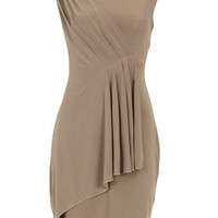 Mocha pleat embellished dress - View All Sale - Sale &amp; Offers - Dorothy Perkins