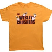 The Big Bang Theory Wesley Crushers Bowling Gold Adult T-shirt Tee