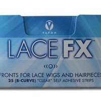 Lace Fx Tape By Vapon B Curve Double Sided Super Adhesive Clear Strips for Front Lace Wigs