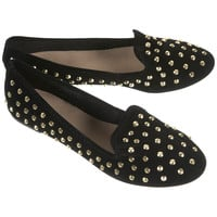 VECTRA5 Gold Studded Slippers - View All - Shoes - Topshop