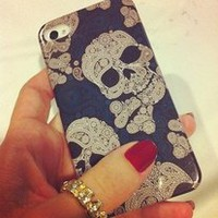 Skull iPhone 5 4 4S Case iPhone 4 Design New White Black