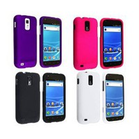 Amazon.com: Combo 4-in-1 Colorful Rubberized Hard Snap-on Protector Shell Case for T-Mobile Samsung Hercules T989 Galaxy S2 - Hot Pink, Purple, Black, White: Cell Phones & Accessories