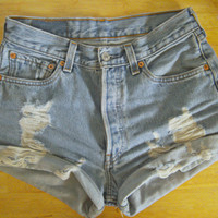 Levi&#x27;s Distressed Cuffed Shorts