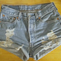 Levi's Distressed Cuffed Shorts