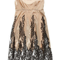 Rosamosario|La Fata Babydoll silk-crepe and lace chemise|NET-A-PORTER.COM