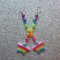 Magical Rainbow Star Earrings from On Secret Wings