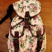 Forever 21 Floral Mini Backpack