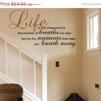 10 Off NEW YEAR SALE Wall Decal Life is not by decorexpressions