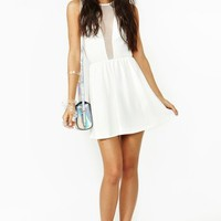 Lulu Dress - White Mesh