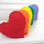 Rainbow of Hearts Eco Felt Handmade Valentine's Day by SweetPB