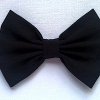 Black hair bow, girls hairbow