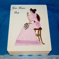 Decorative Wood Wedding Box- Victorian, Hand Painted, Wedding Keepsake Box, Wedding Gift Card Box, Personalized, Memory BOX, Wood Box