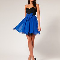 Paprika Dress Bow Front Chiffon Babydoll at asos.com