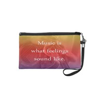 music is what feelings sound like guitar design wristlets from Zazzle.com