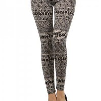 Aztec Print Leggings at Poetrie.com