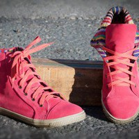 DeBlossom Cassey-9 Lace Up Casual Sneakers (Coral) - Shoes 4 U Las Vegas