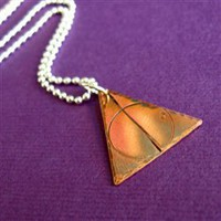 Deathly Hallows Necklace - Spiffing Jewelry