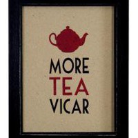 Small Word Pic More Tea Vicar | Wall Art & Signs | Home Accessories | 14.99 - The Contemporary Home Online Shop