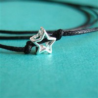 Sterling Star Tie on Bracelet - Spiffing Jewelry