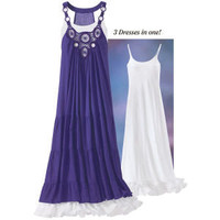 Purple & White Dress Set - New Age & Spiritual Gifts at Pyramid Collection