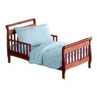Heavenly Soft Toddler Bedding Set - color: Blue