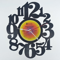 Vinyl Record Wall Clock (artist is Jimmy Buffett)