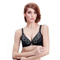 Lace Flower Pattern Push-Up Adjustable Bra,Cheap in Wendybox.com