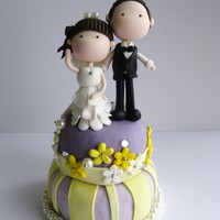 Wedding Clay Cake Topper - Standin.. on Luulla