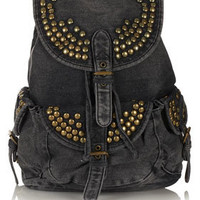 Studded Denim Backpack - Backpacks - Bags &amp; Wallets  - Accessories