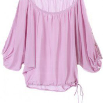 Anu Lilac Butterfly Blouse