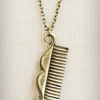 Mini Mustache Comb Necklace | PLASTICLAND