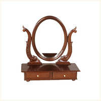 Calcutta Dresser Top Mirror,British ,Colonial ,Burma ,Teak ,Dresser ,Mirror ,Bedroom ,Antique