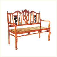 Coorg Teak and Rosewood Bench,British ,Colonial ,Burma ,Teak ,Rosewood ,Living ,Bench ,Accents ,Antique