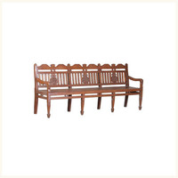 Derozio Eight Legged Bench,Anglo ,Indian ,Burma ,Teak ,Colonial ,Living ,Bench ,Antique