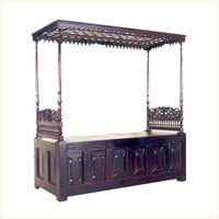 Trivandrum Trunk Day Bed ,Colonial ,Burma ,Teak ,Day ,Bed ,Bedroom ,Reproduction