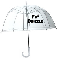 Fo&#x27; Drizzle Funny Transparent Dome Style Umbrella  by meandmy3boys
