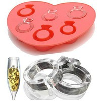 Love Ring Shape Ice Jelly Cube Trays Chocolate Mold Silicon