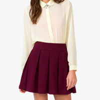 Sheer Peter Pan Collar Shirt