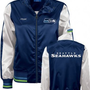 Amazon.com: Seattle Seahawks Women's Navy Cheer Jacket - Large: Clothing