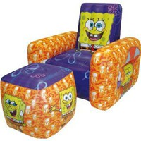 Amazon.com: Nickelodeon SpongeBob Inflatable Chair and Ottoman by Rand: Toys & Games