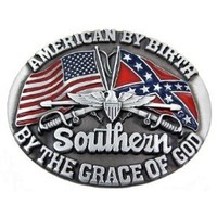 Amazon.com: american by Brith Southern by Grace of God Dixie Belt Buckle confederate flag: Everything Else