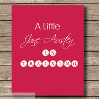 Jane Austen in Training Typography Wall by JaneAndCompanyDesign