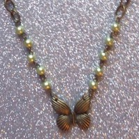 Forest Fairytale Butterfly Necklace from On Secret Wings